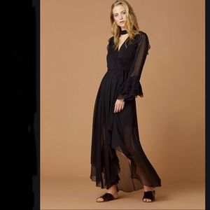 DVF Diva Ruffle Chiffon Silk Wrap Dress